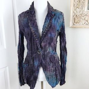 Alberto Makali Jacket Blazer Wearable Art Tie Dye
